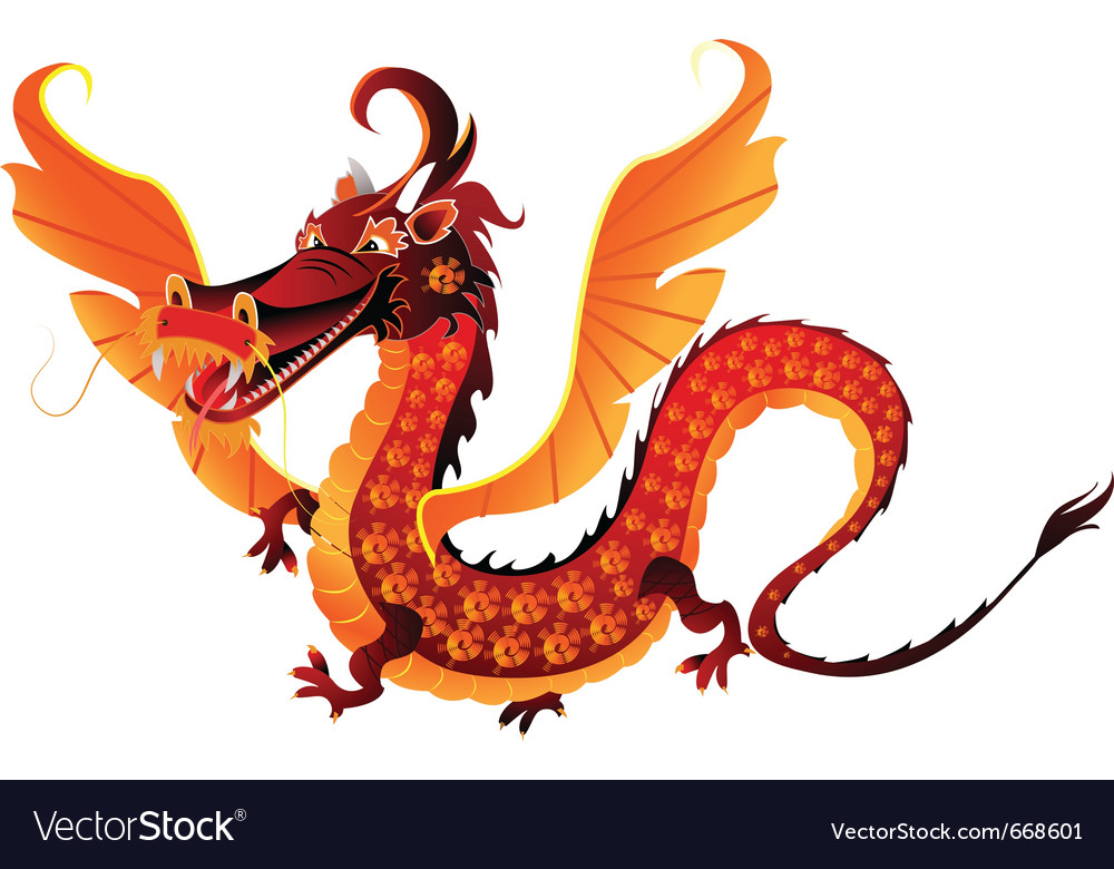 Mythical dragon symbol 2012 vector image