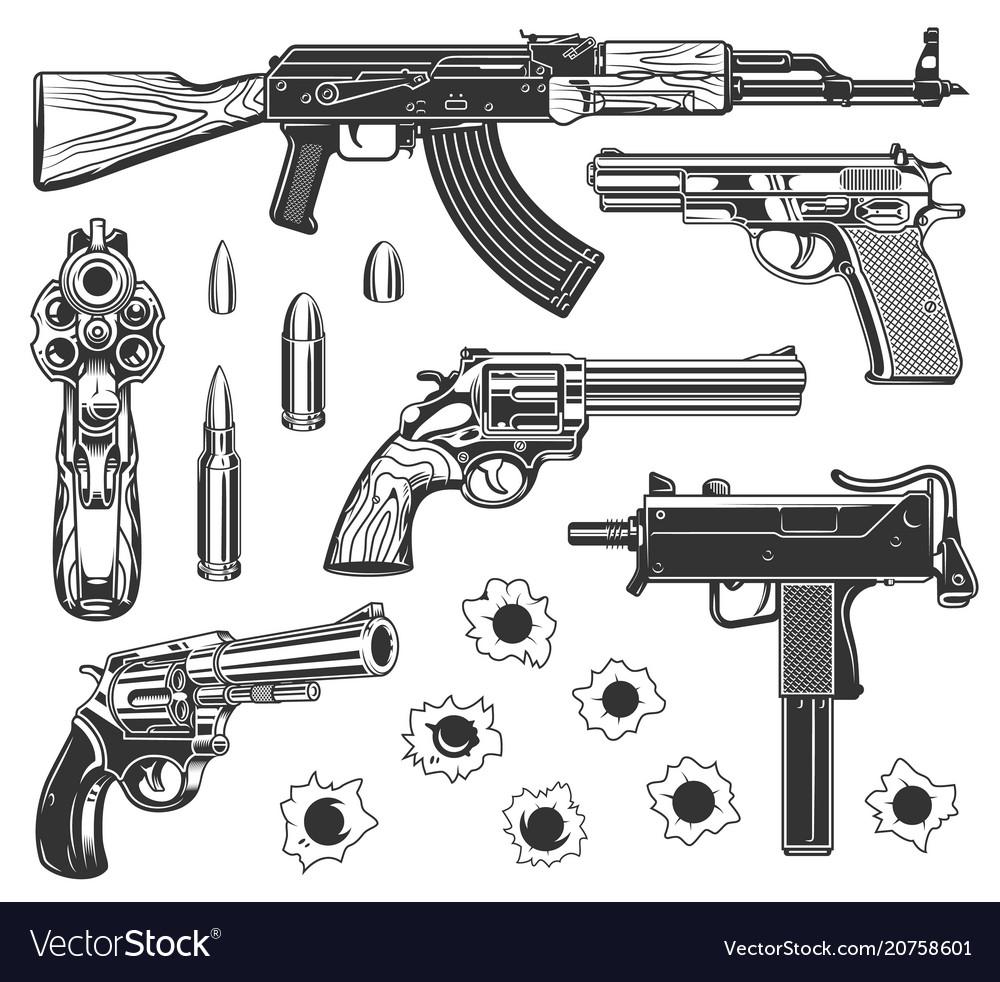 Set bullet holes