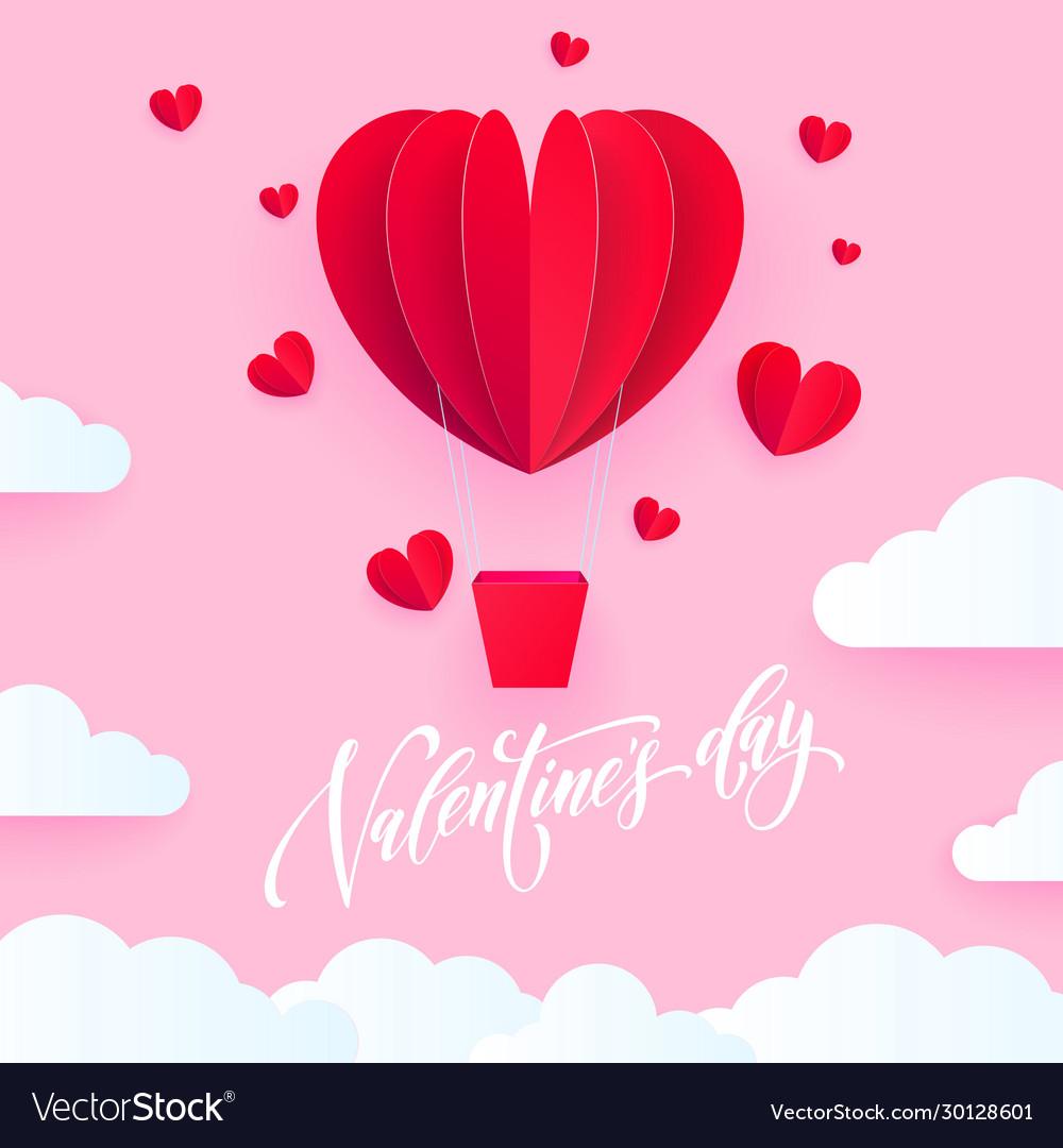 Valentine heart air ballon for valentines day