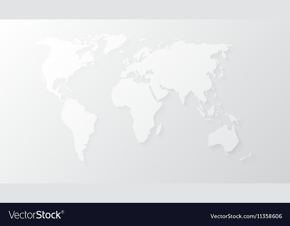 Blank White Abstract World Map Template Vector Image