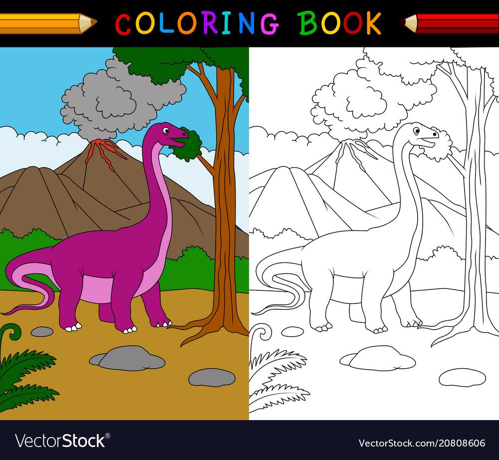 Cartoon apatosaurus coloring page