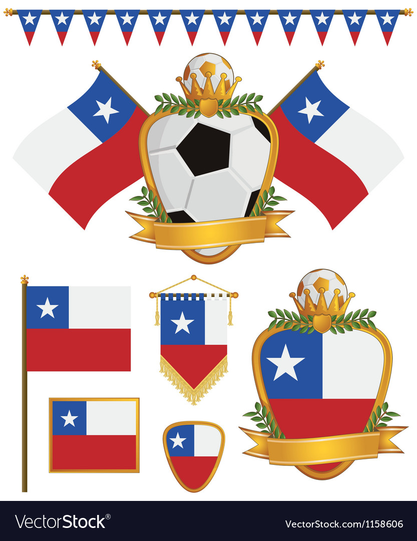 Chile flags vector image