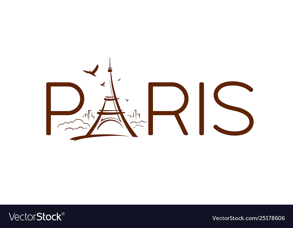 Eiffel tower paris sketching design banners