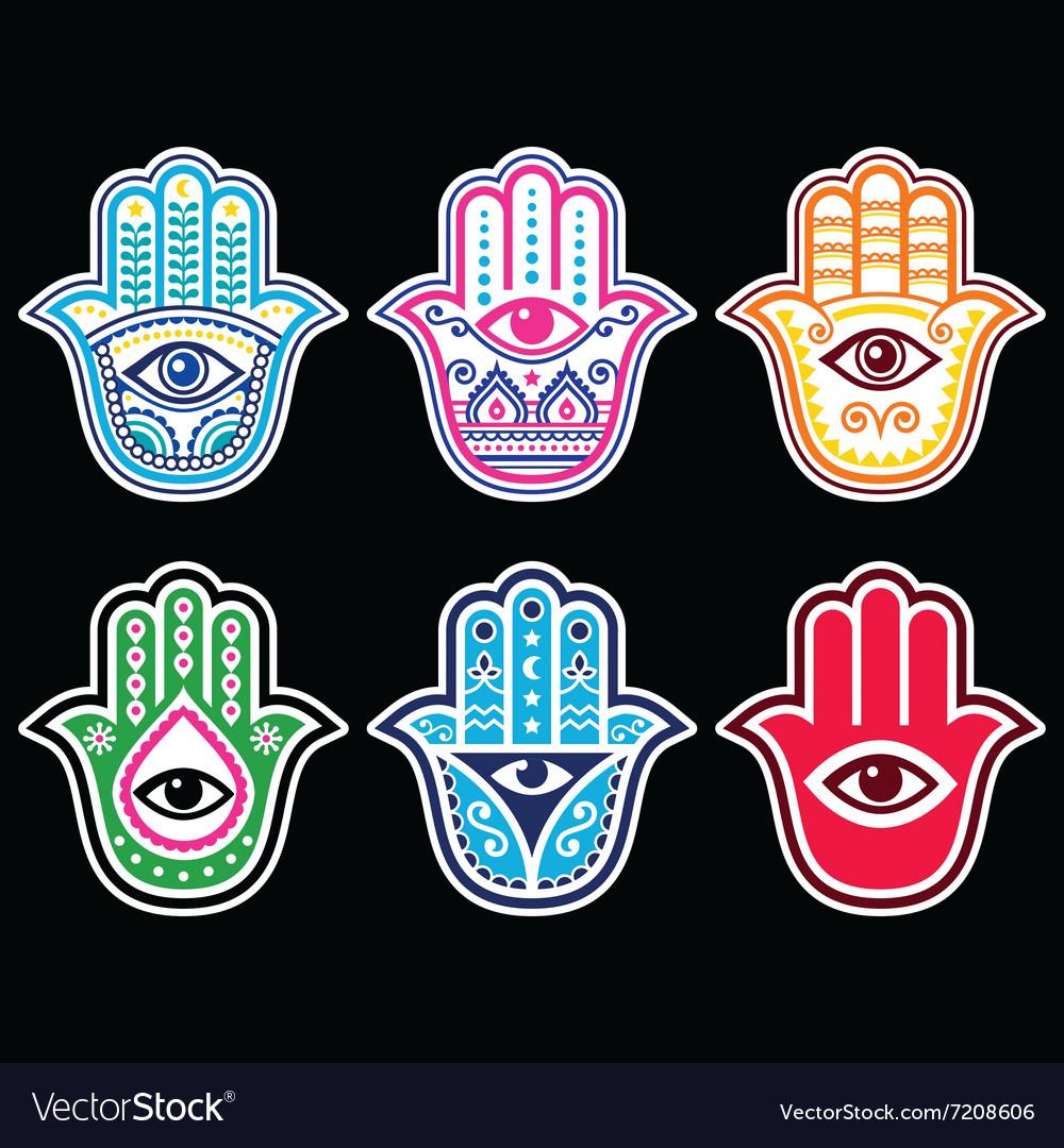 Hamsa hand Hand of Fatima - amulet symbol of pro