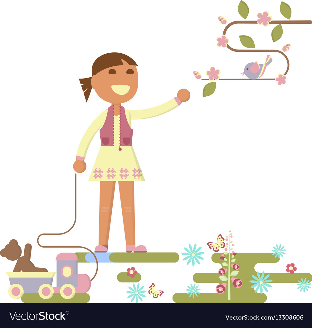 Kids playing outdoor vector image