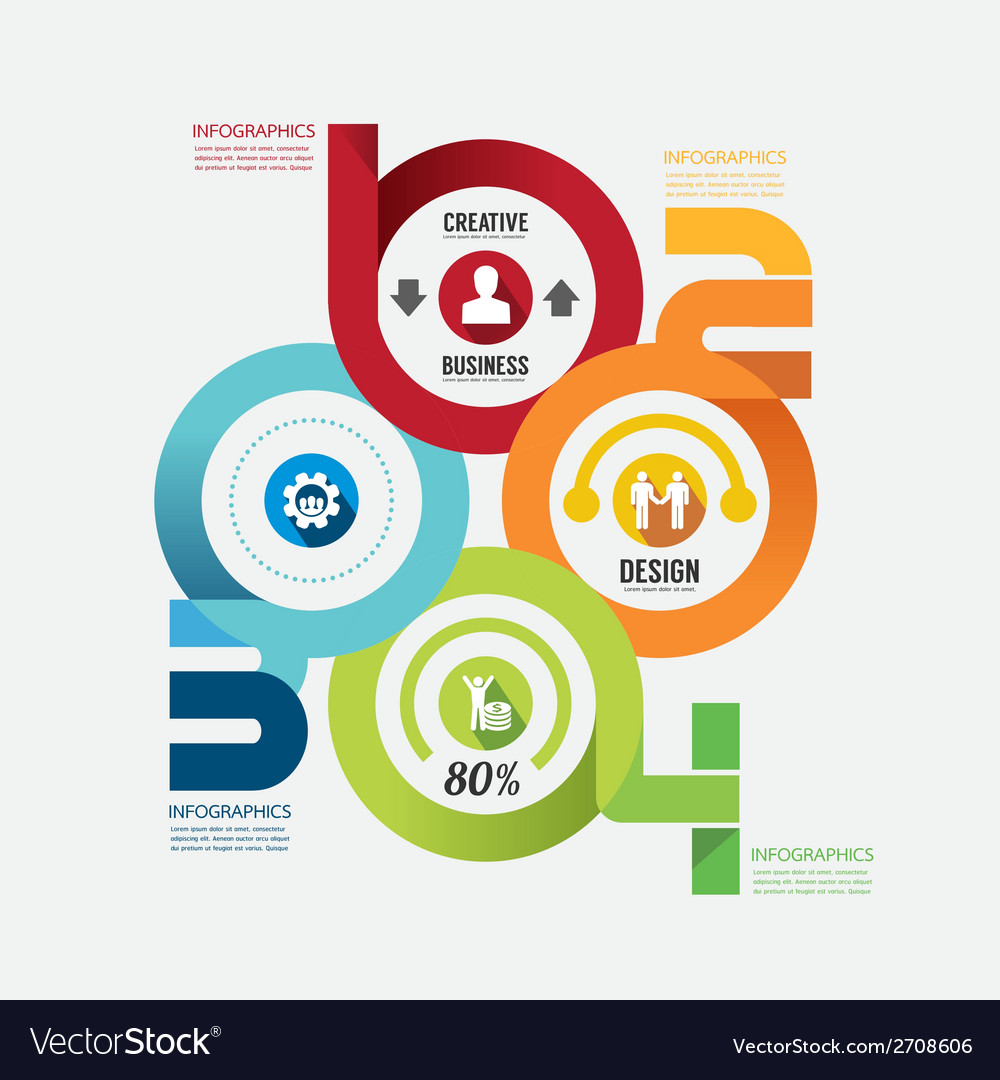 Modern design infographic circle template