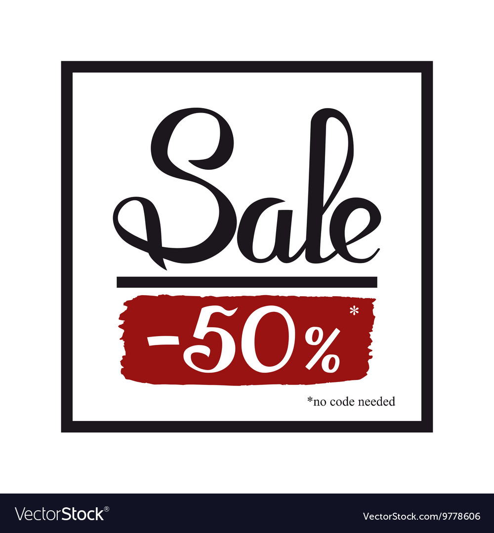 Sale banner template design Simple message card Vector Image