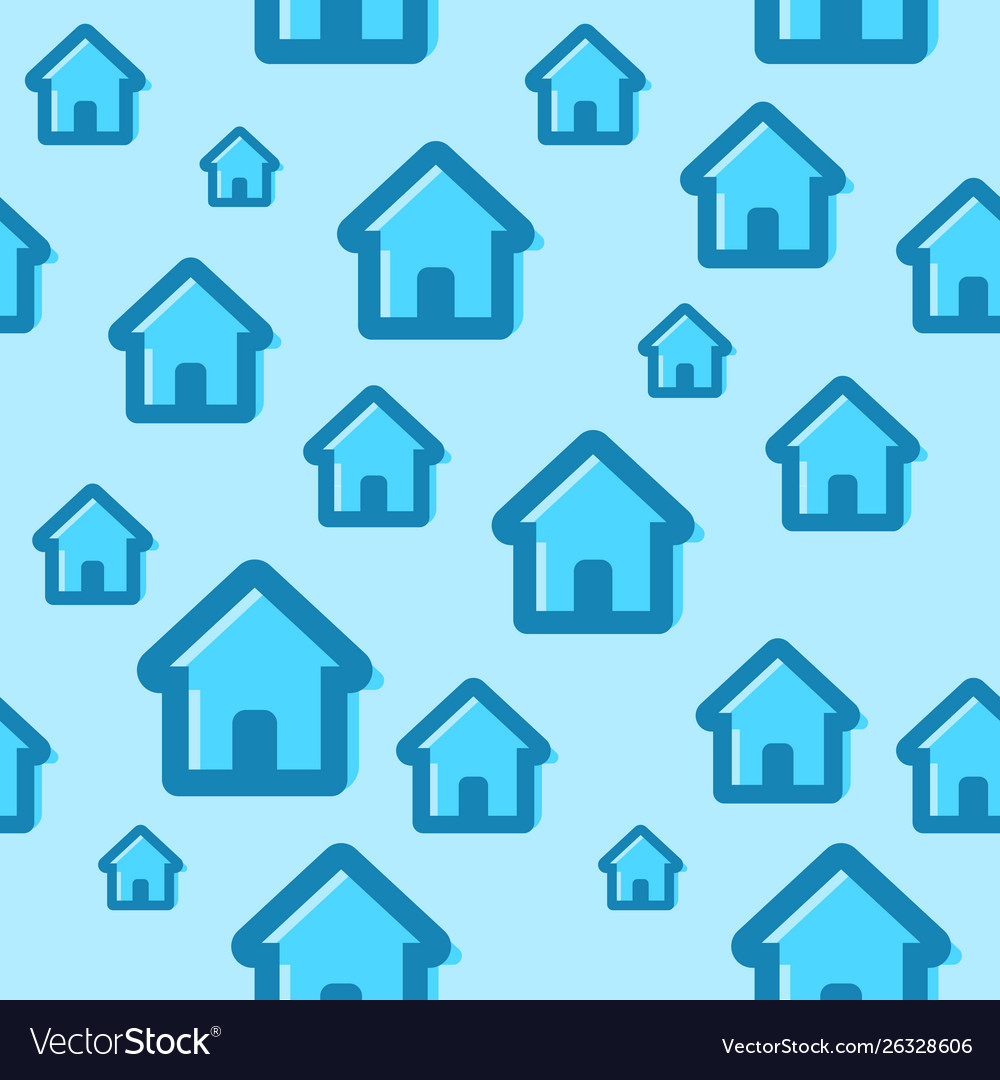 Seamless pattern with house icons