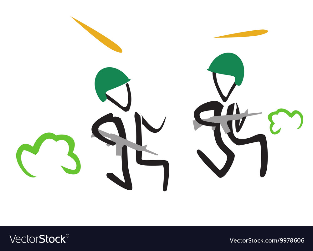 Simple of running stick vector image
