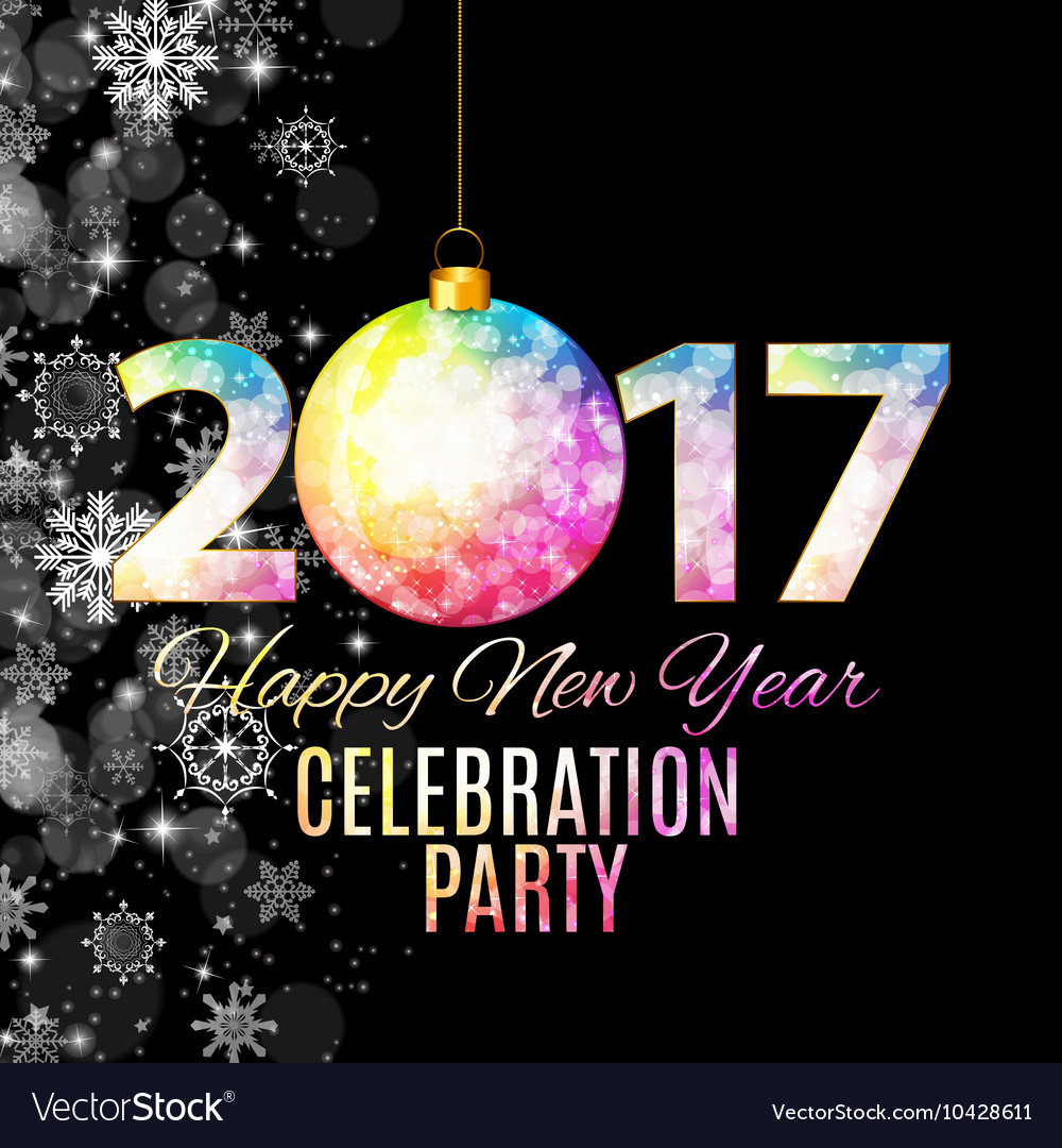 Abstract Beauty 2017 New Year Celebration Poster