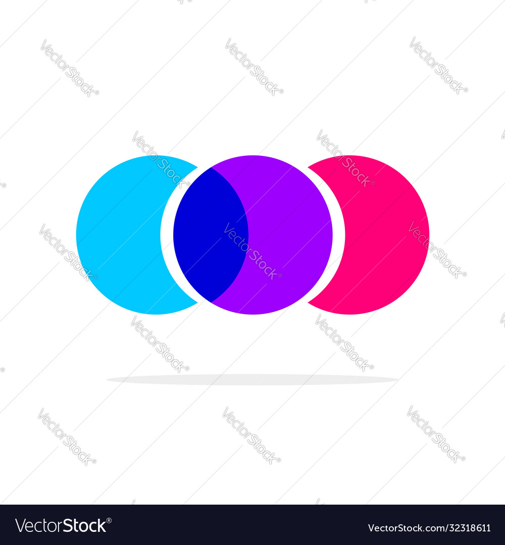 Abstract colorful circles logotype three element