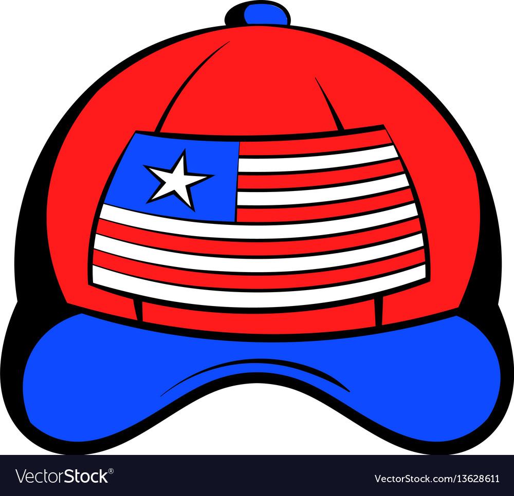 Baseball in the usa flag colors icon cartoon