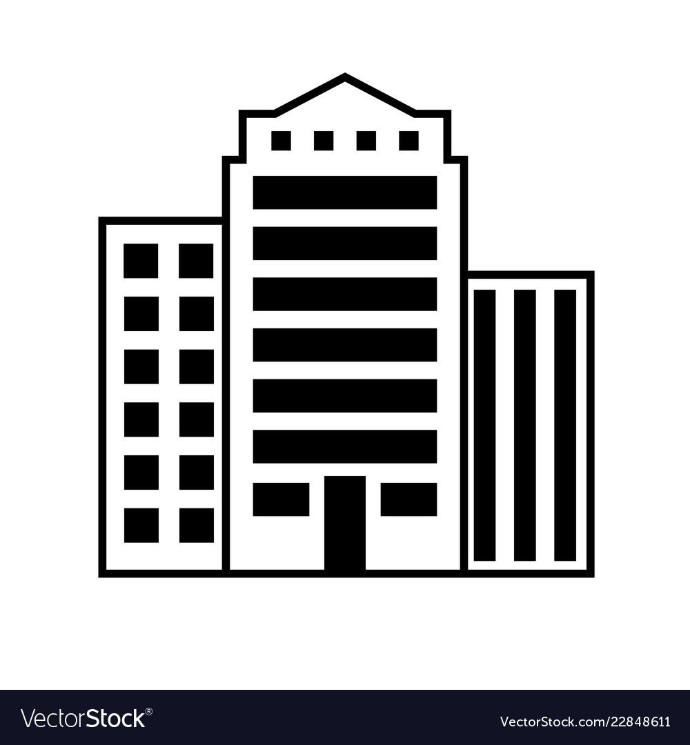 Buildings icon architecture symbol