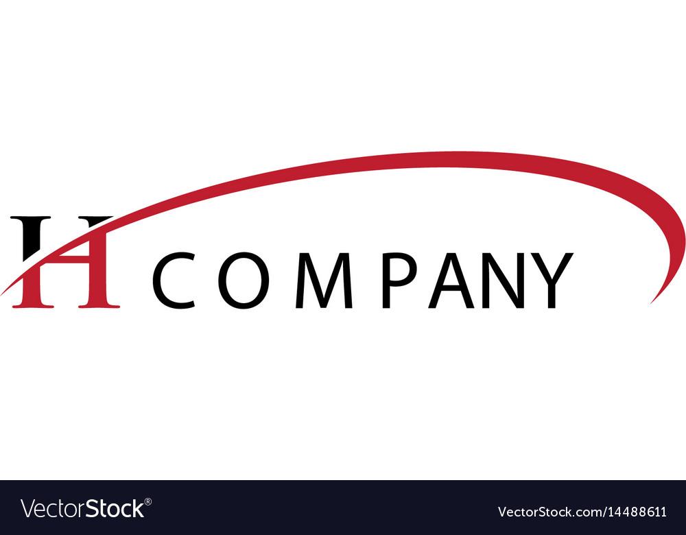 H letter swoosh logo