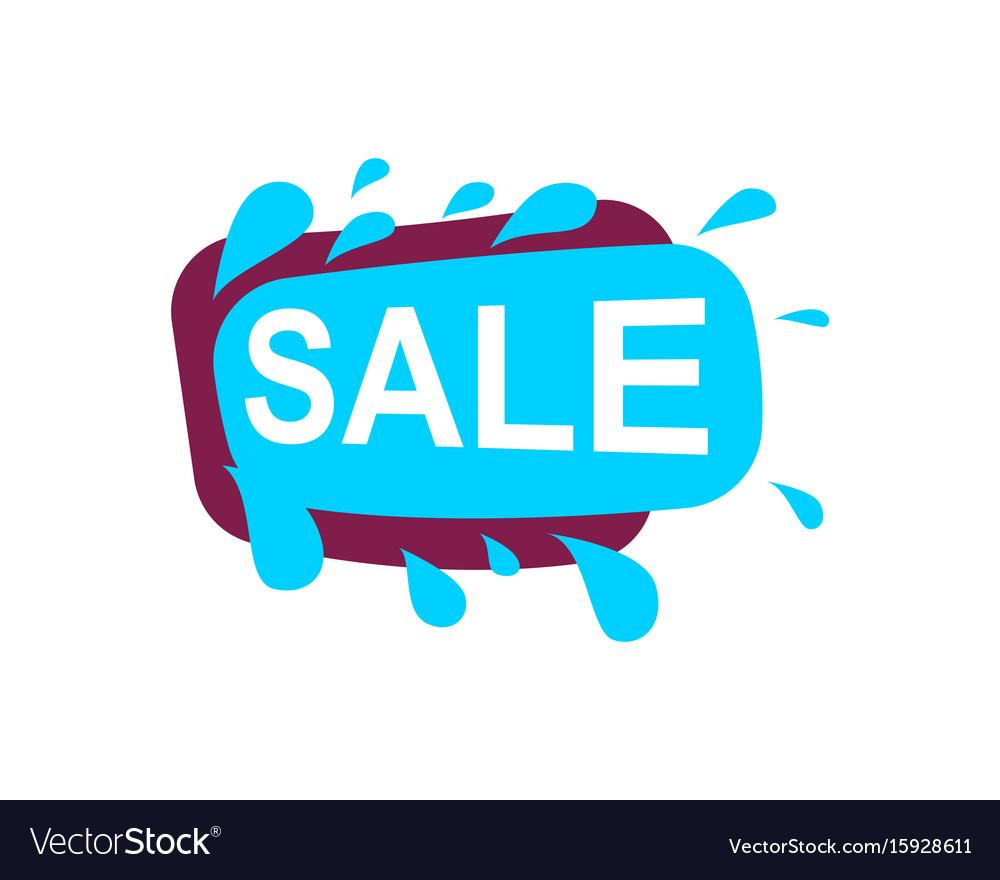 Sale speech bubble for retail promotion
