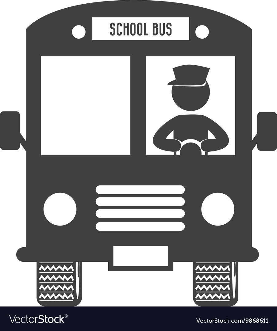 School bus route isolated flat icon