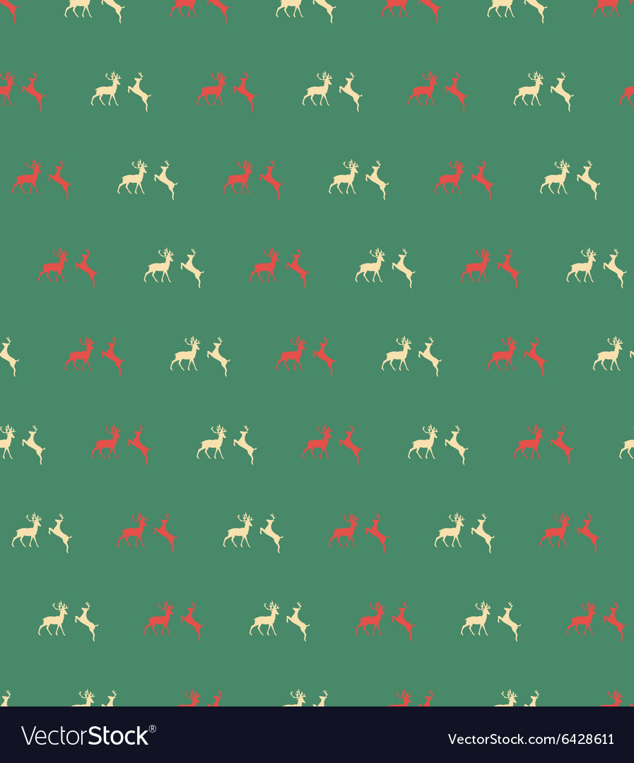 Seamless patterns with reindeer