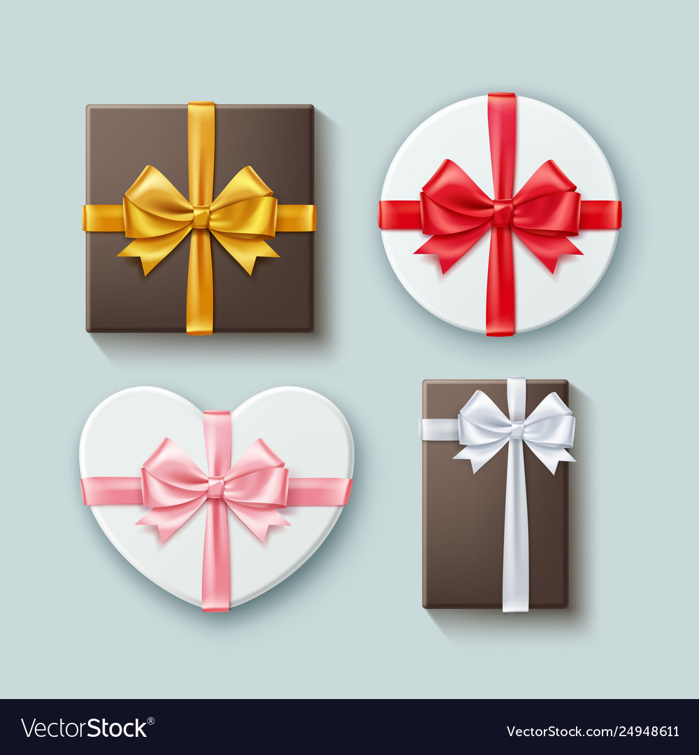 Set gift boxes different forms