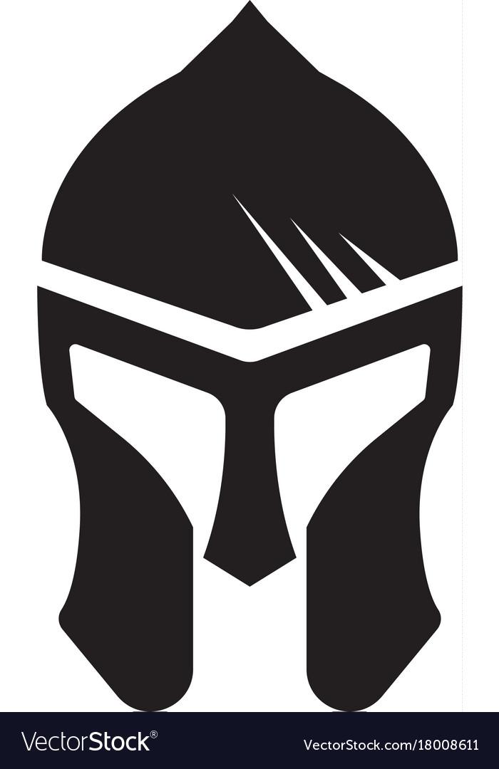 spartan helmet logo template royalty free vector image
