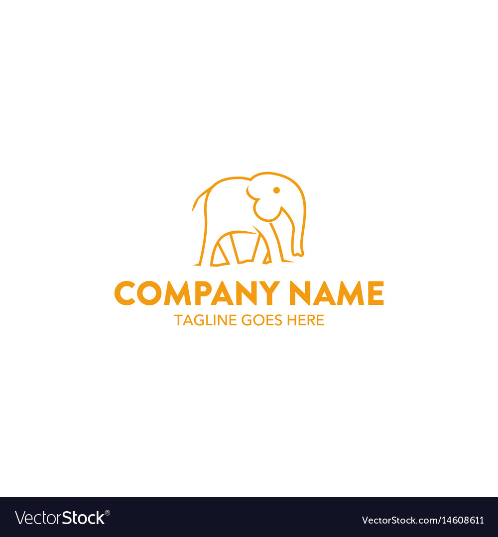 Unique elephant logo
