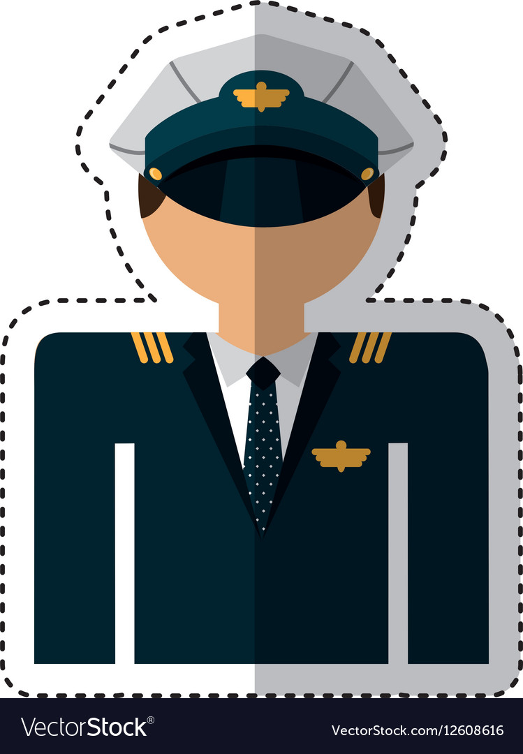 Airplane pilot avatar character vector image