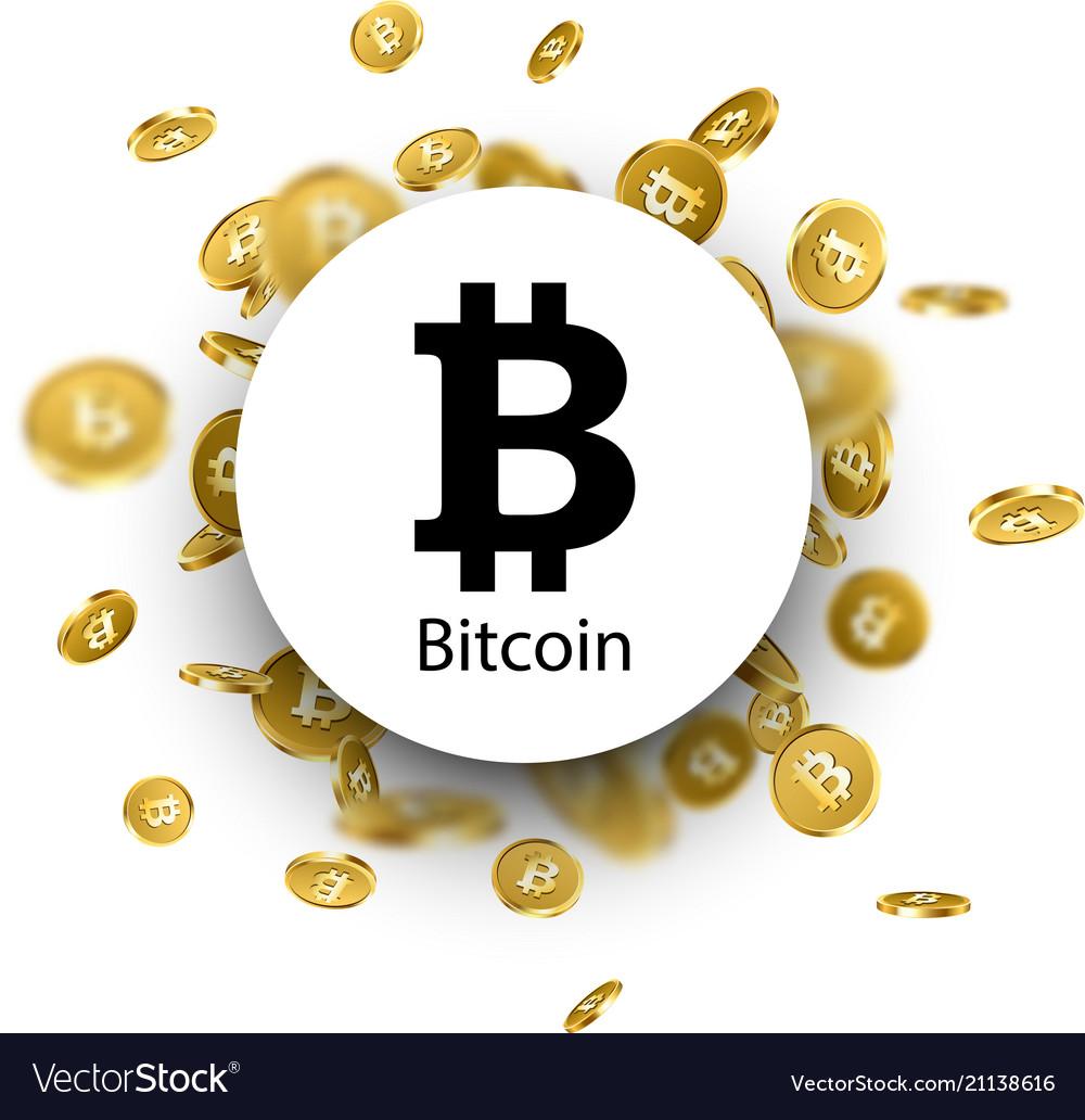 Black bitcoin sign on white