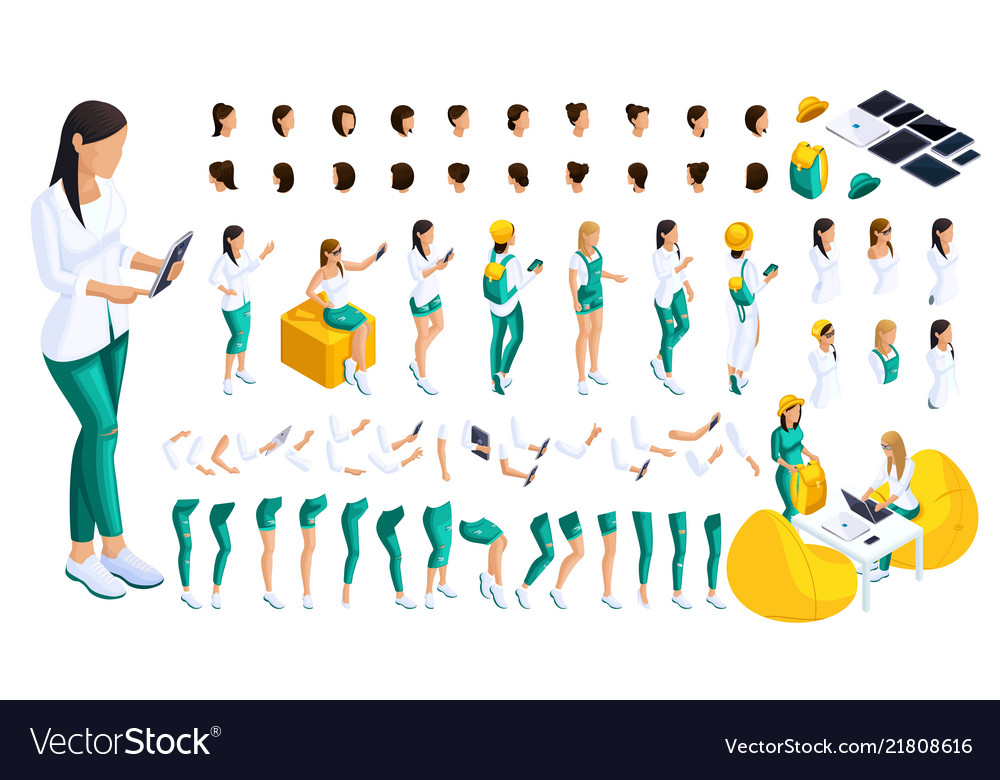 Isometric set of gestures of hands and feet