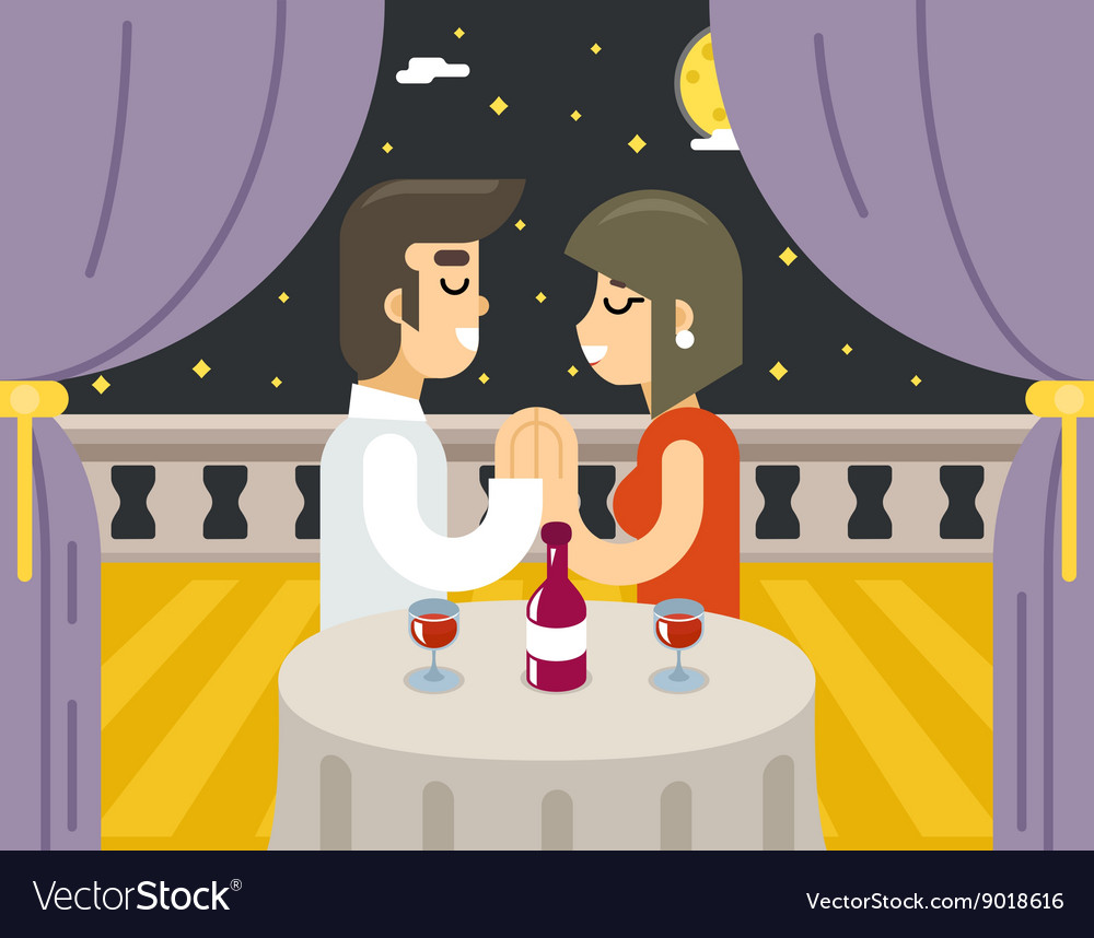 Romantic evening night love beloved dating man