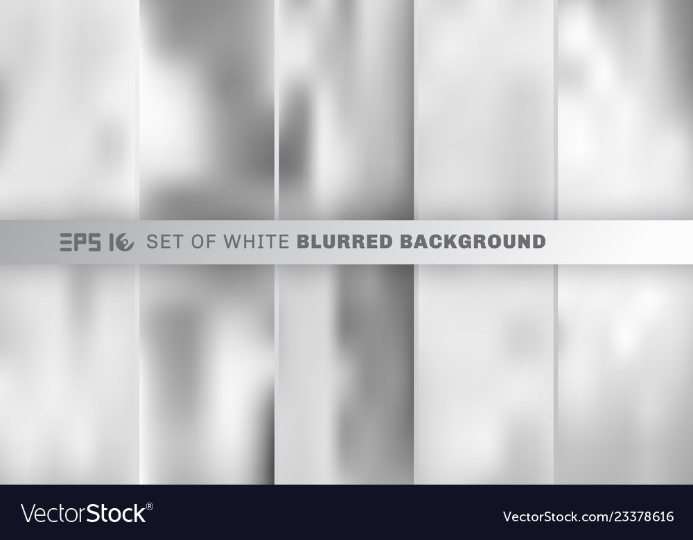 Set of abstract white and gray blurred background