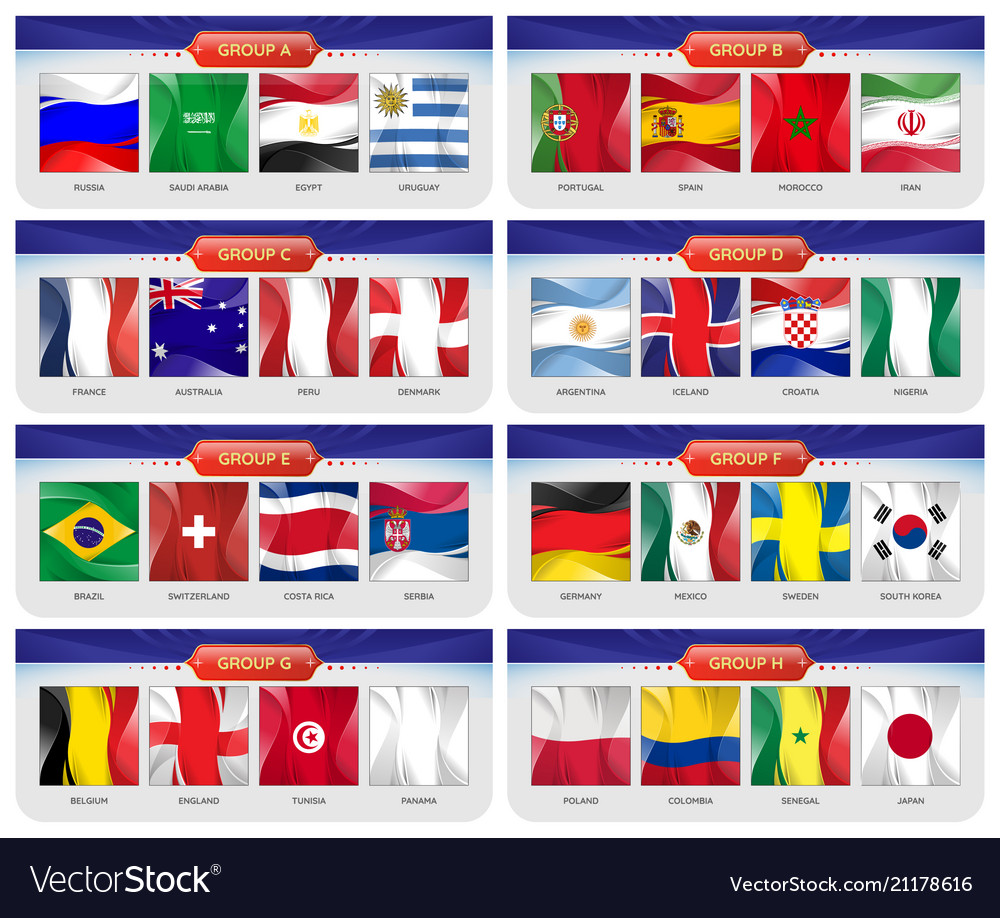 Soccer or football set of national flags team Vector Image c705a9bcc