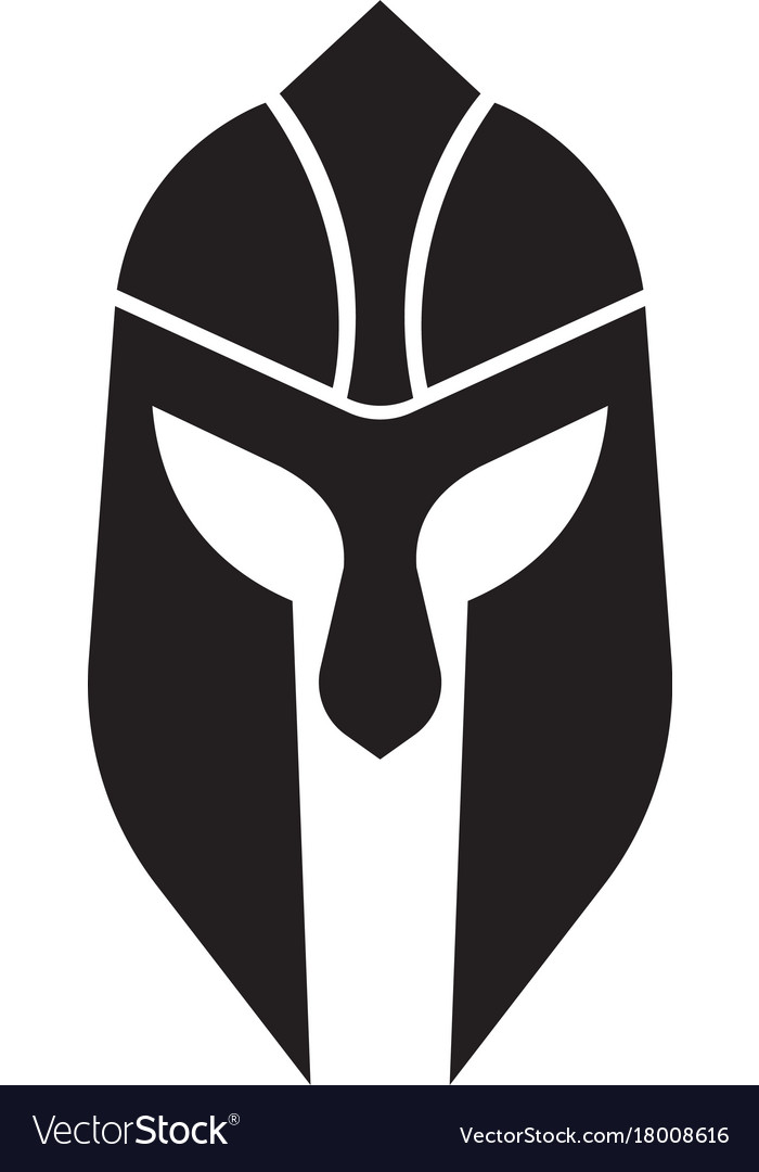 Spartan helmet logo template royalty free vector image for Spartan mask template