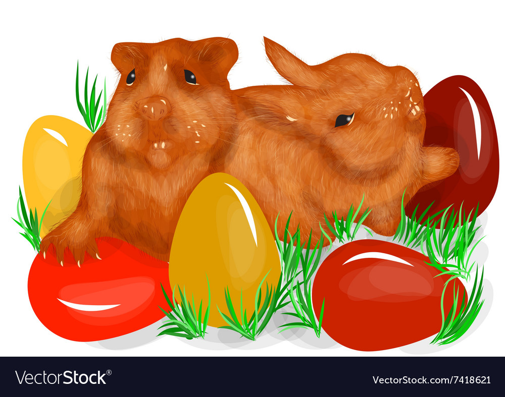 Animal fun easter vector image
