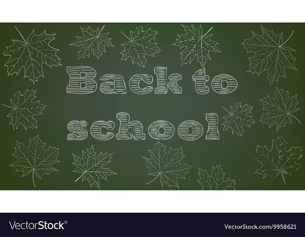back to school chalkboard background royalty free vector