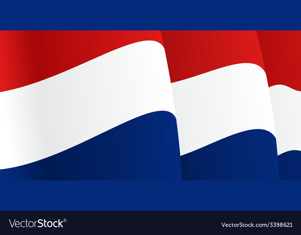 background with waving dutch flag royalty free vector image