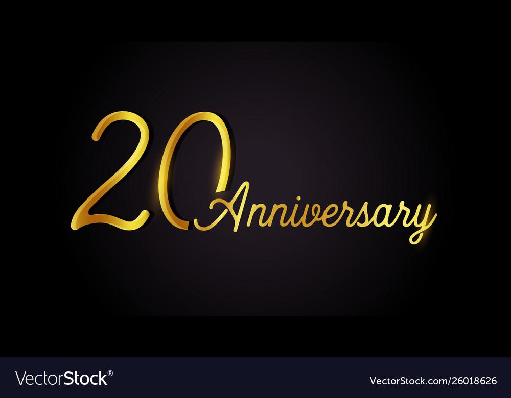 20 anniversary logo concept 20th years birthday