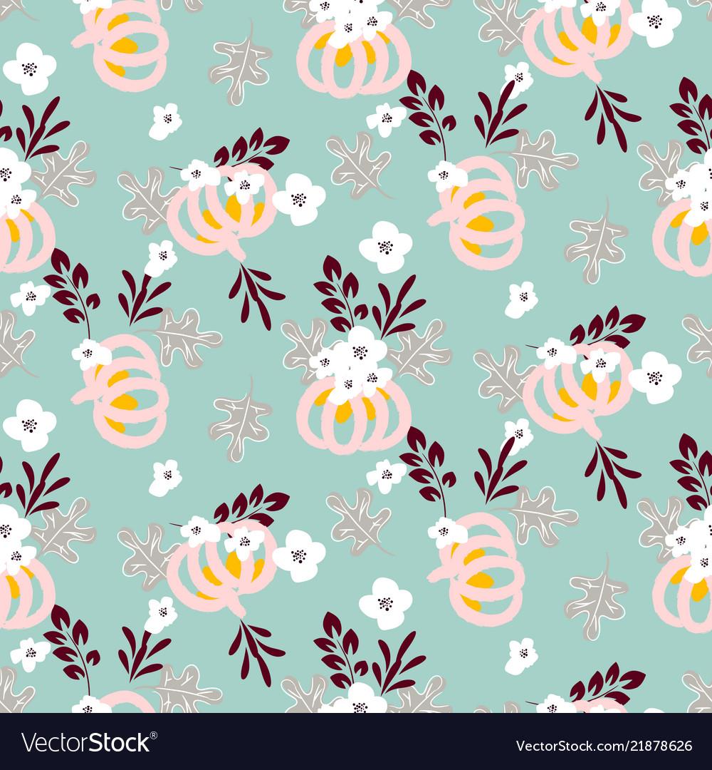 Autumn beautiful chic seamless pattern with