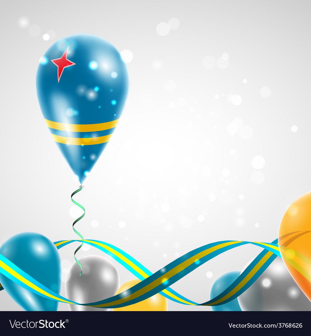 Flag of Aruba on balloon