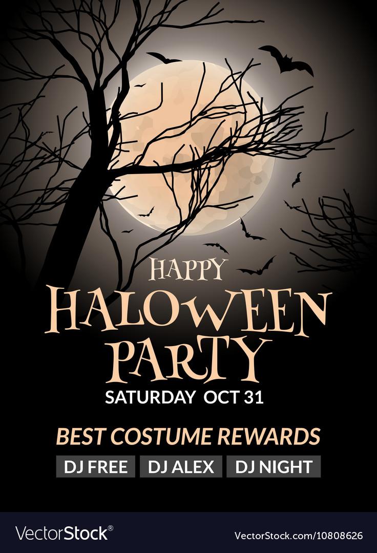 Halloween Flyer Template Free from cdn2.vectorstock.com