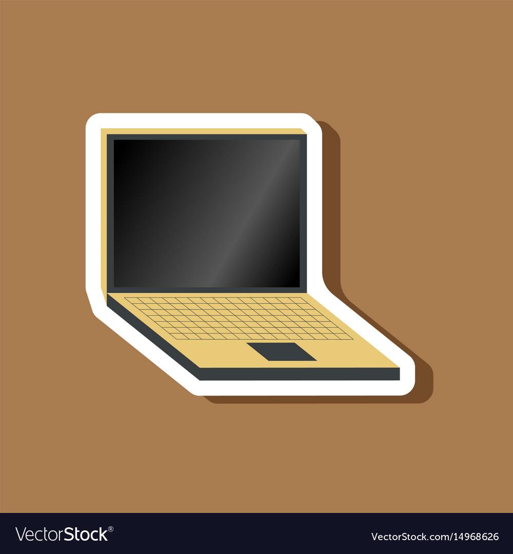 Paper sticker on stylish background laptop