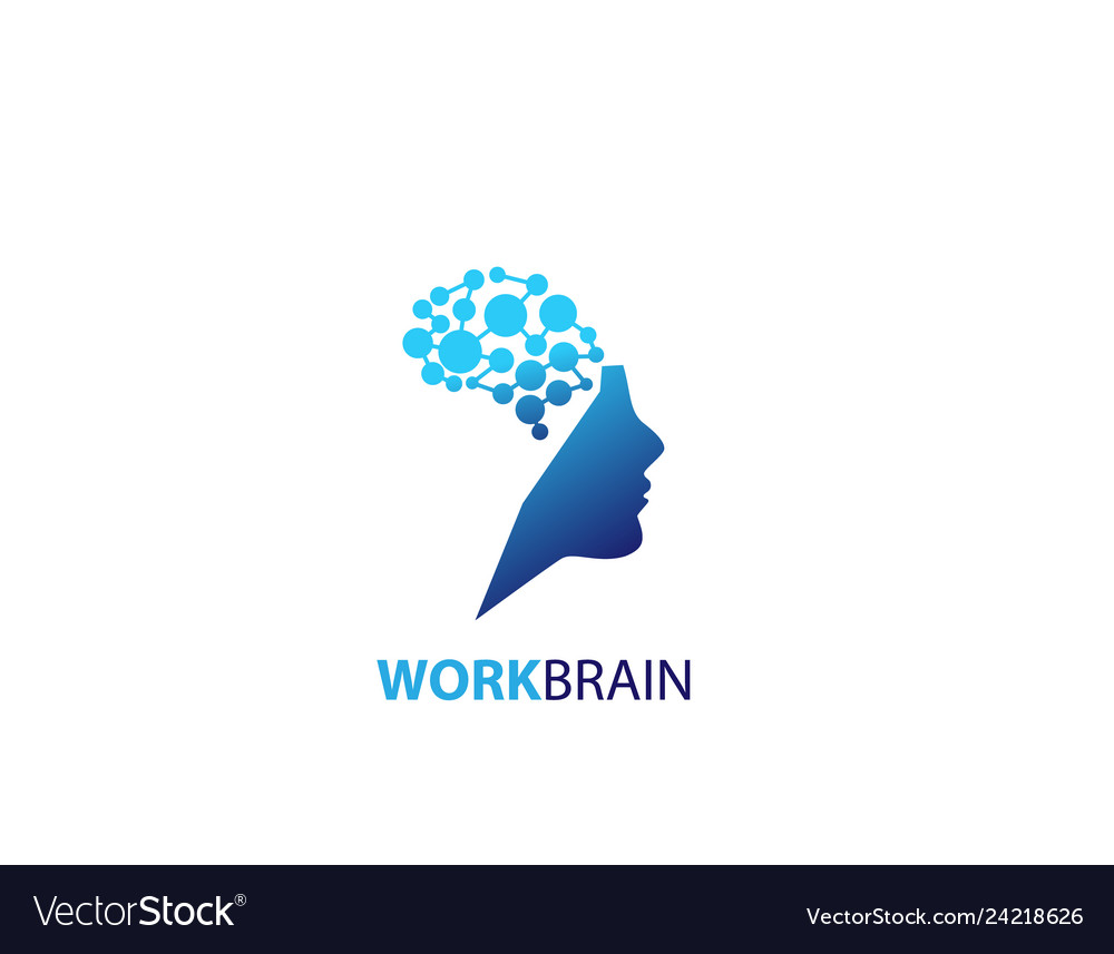 Symbol of human head work brain logo