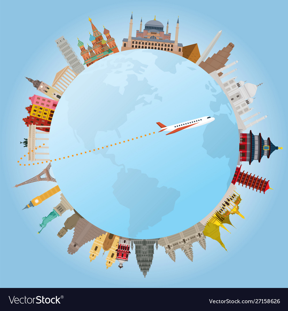 World landmarks and travel around