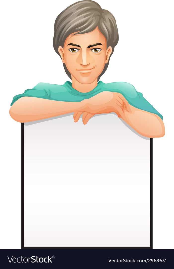 A man with an empty signboard vector image