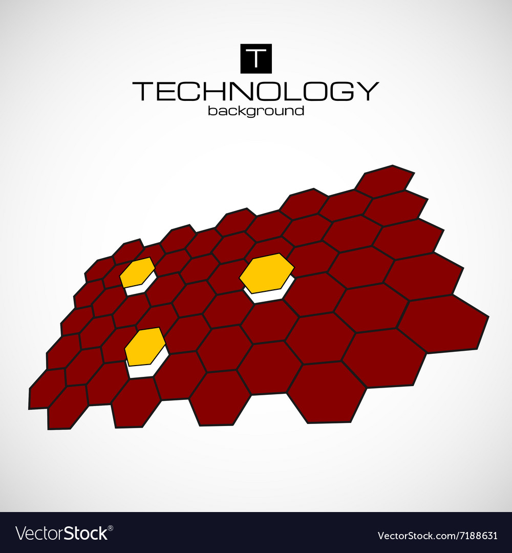 Abstract science hexagon background