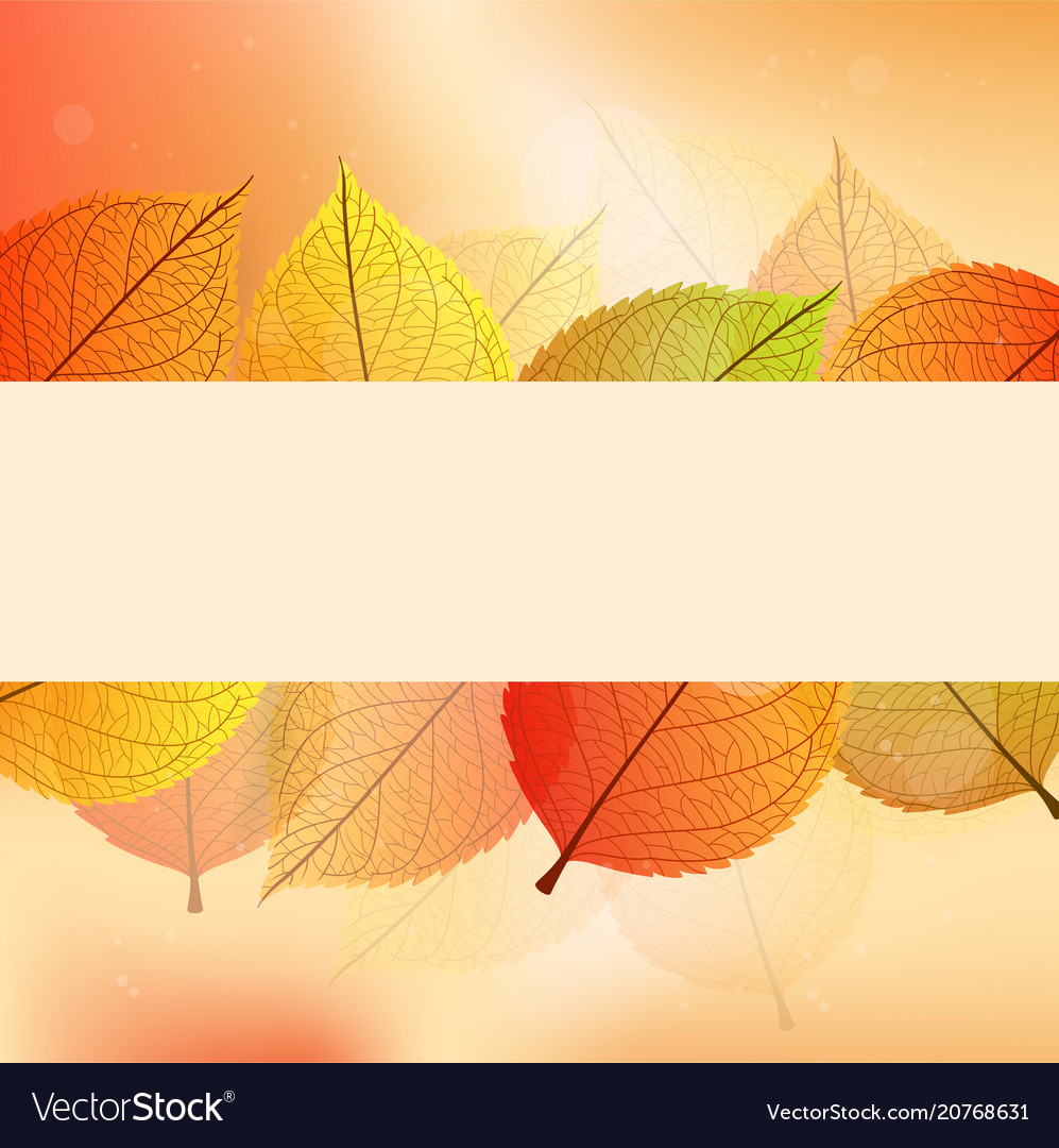 Background with stylize autumn leaves