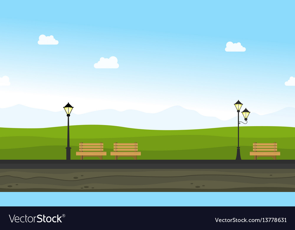 Beauty landscape garden for background game vector image