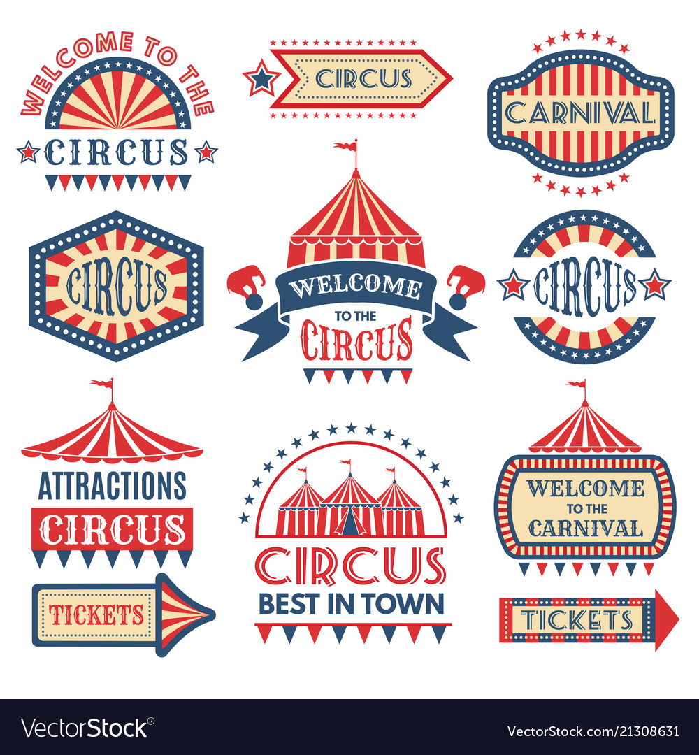 Carnival event logotypes template badges