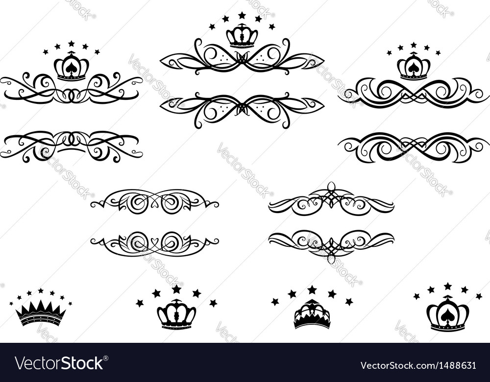 Decorative frames with crowns