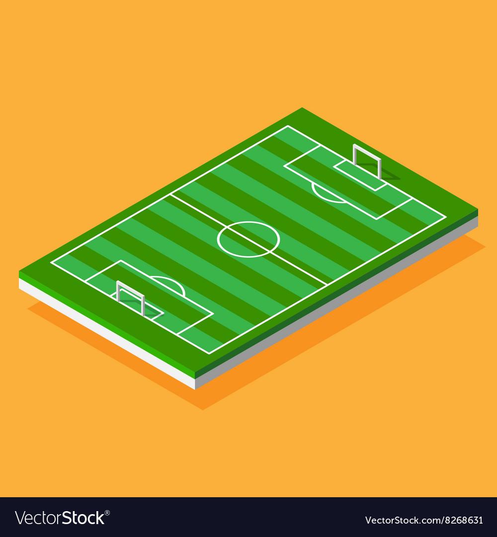 Football field stylized isometric