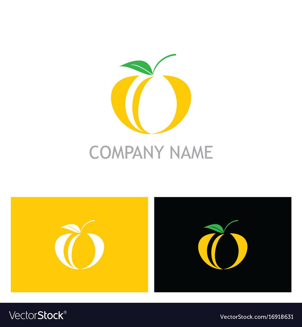 Fruit organic fresh logo