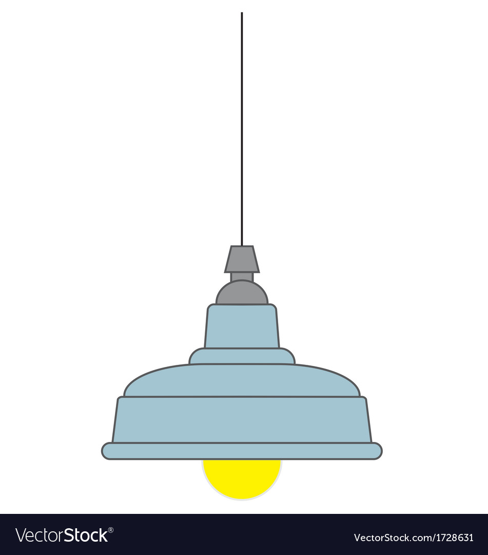 Industrial style pendant ceiling light vector image